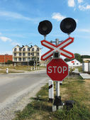 Level crossing — Stock Photo