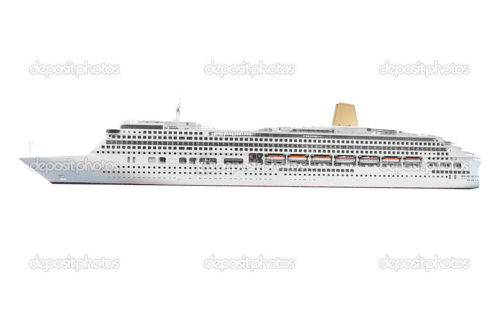 The image of ocean ship under the white background — Stock Photo #6817959