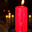 Burning candle — Stock Photo