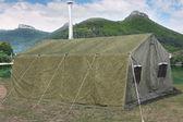 Millitary tent — Stock Photo