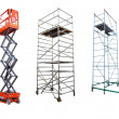 Scaffolds and lift - Stock Photo