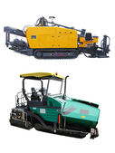 Asphalt spreading machines — Stock Photo