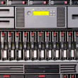 Rack mounted server — Stock Photo