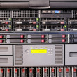Rack mount server front view — Stock Photo