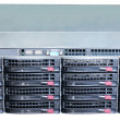 Rackmount server isolated — Stock Photo