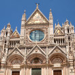 Facade of Siena dome, Italy — Stock Photo