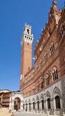 Torre del Mangia, Sienna — Stock Photo