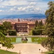 Boboli Gardens and palazzo Pitti - Stock Photo