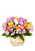 Bouquet from different bright colors — Stock Photo