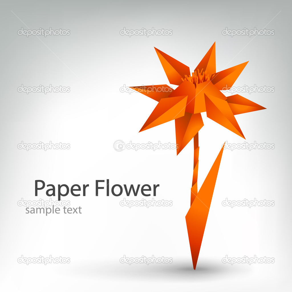 Vector origami flower  Stock Vector #7322121