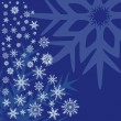 Royalty-Free Stock Vektorgrafik: Snowflakes on a blue background.