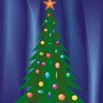 Christmas festive fir. — Stock Vector