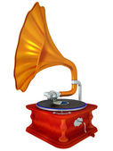 Ancient antiquarian gramophone — Photo