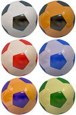 Footballs isolated — Stock Photo