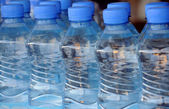 Closeup Mineral Water Bottles — Stock Photo