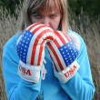 Angry Woman Wearing Boxing Gloves — Stock Photo #6953878