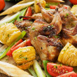 Roasted quails — Stock Photo