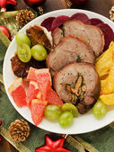 Turkey roulade — Stock Photo