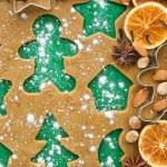 Christmas baking — Stock Photo