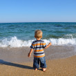 Kid and sea — Stock Photo