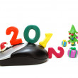 Computer Mouse 2012 with Gifts — Stock Photo