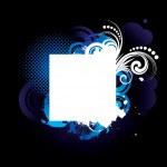 Blue grunge frame — Stock Vector