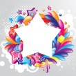 Royalty-Free Stock Vector Image: Colorful star frame