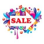 Colorful sale arrow — Stock Vector