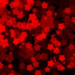 Random transparent red stars - Stock Vector