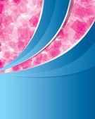 Abstrato azul e rosa — Vetorial Stock