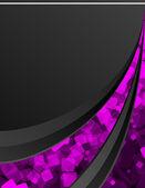 Schwarzer einen rosa hintergrund — Stockvektor