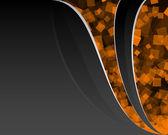 Schwarz und orange hintergrund — Stockvektor