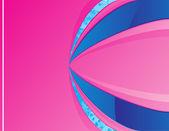 Fondo azul y rosa con espacio para el mensaje — Vector de stock