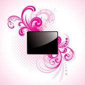 Black glossy rectangle — Stock Vector
