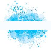 Blue random transparent circles — Stock Vector