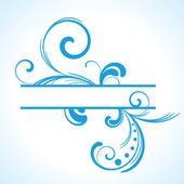 Niebieski rama kwiatowy — Wektor stockowy
