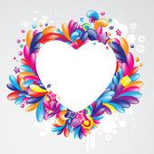 Cheerful heart design — Stock Vector