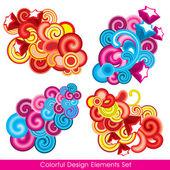 Colorful design elements set — Stock Vector