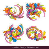 Colorful design elements set — Stock Vector