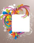 Mão colorido desenhado quadro desig — Vetor de Stock