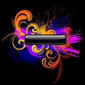Dark colorful grunge background — Stock Vector