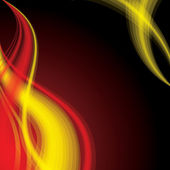 Flaming fond de vague — Vecteur