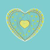 Getekende hart — Stockvector