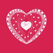 Drawn heart — Cтоковый вектор