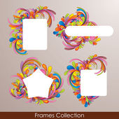 Frames collection — Stock Vector