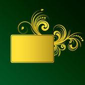 Zlatý rám — Stock vektor