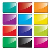 Glossy rectangles set — Stock Vector