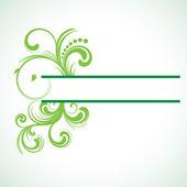 Green swirl frame — Stock Vector