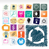 Hand drawn icons collection — Stock Vector