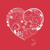 Hand drawn heart — Cтоковый вектор